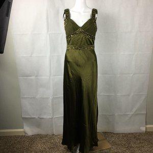 Cache Silk Dark Citrine Gown Dress Sz 6